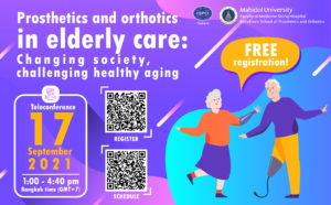Teleconference: Prosthetics and orthotics in elderly care: Changing society and challenging healthy aging